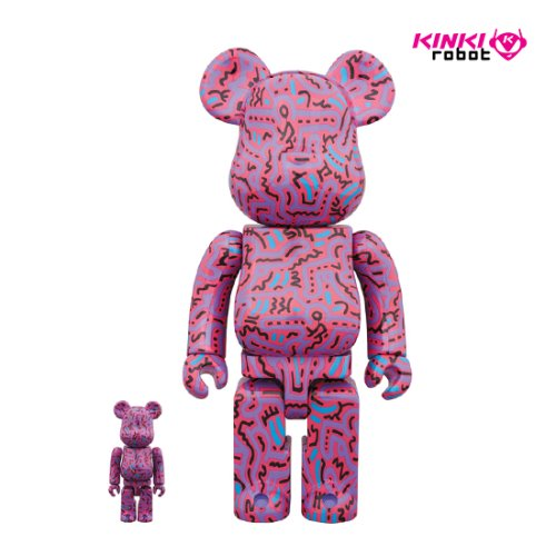 400%+100%BEARBRICK KEITH HARING #2