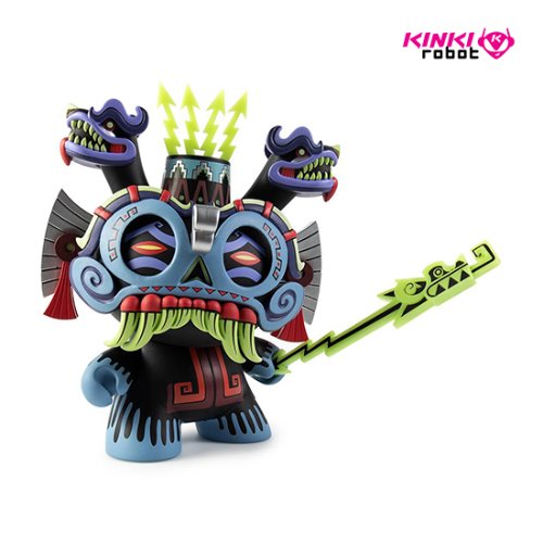"8""DUNNY TLALOC BY JESSE HERNANDES_BLUE"