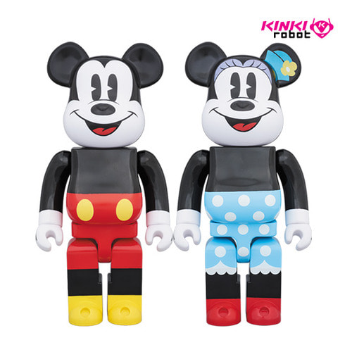 1000%BEARBRICK MICKEY MOUSE, MINNIE MOUSE (SET)