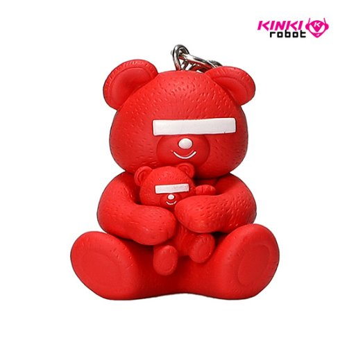 UNDERCOVER BEAR KEYCAHIN (RED)
