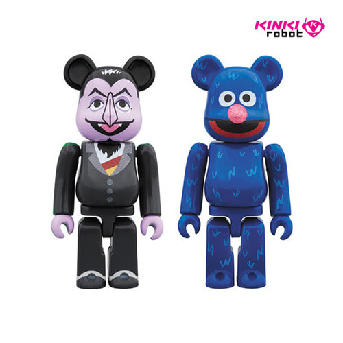 100%BEARBRICK COUNT VON COUNT & GROVER 2PACK (프리오더)