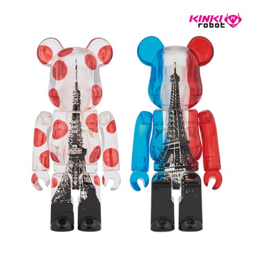 100%BEARBRICK TOKYO TOWER+EIFFEL TOWER TWIN PACK