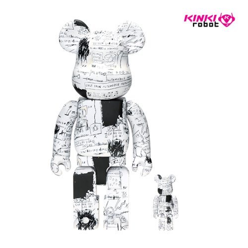 400%&100%BEARBRICK JEAN MICHEL BASQUIAT #3
